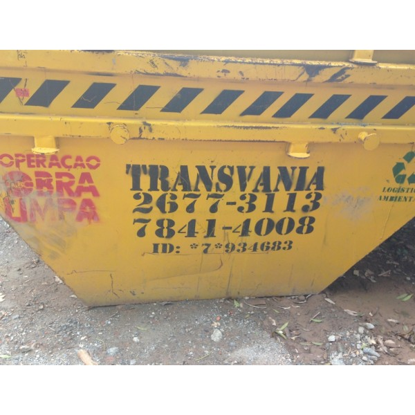 Contratar Empresa de Locação de Caçambas para Entulho para Obra no Jardim do Mar - Caçamba de Entulho em Santo André