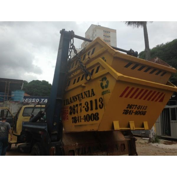 Contratar Empresa para Locação de Caçamba de Entulho  no Bairro Paraíso - Caçamba de Entulho Santo André Preço