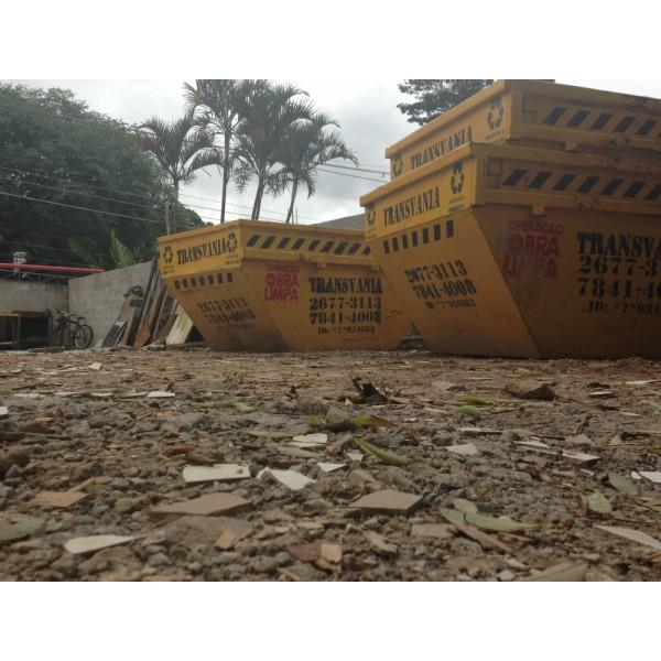 Contratar Empresa para Locação de Caçamba para Entulho de Obra na Vila Lutécia - Caçamba para Locação