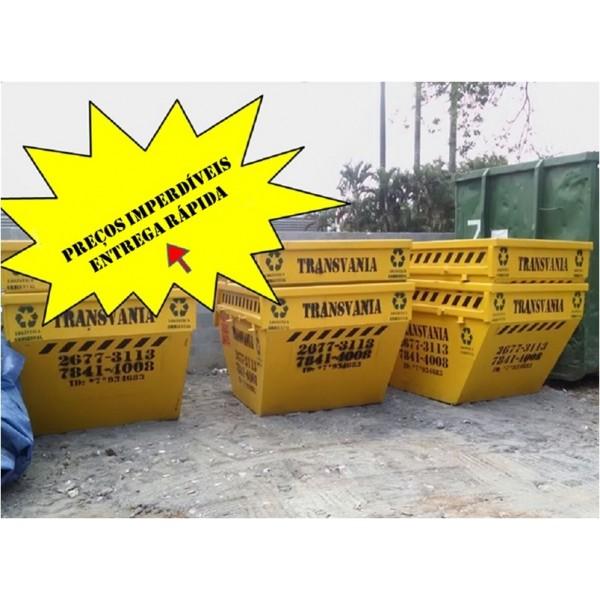 Empresa de Caçamba para Locação na Vila Eldízia - Locação de Caçamba para Entulhos