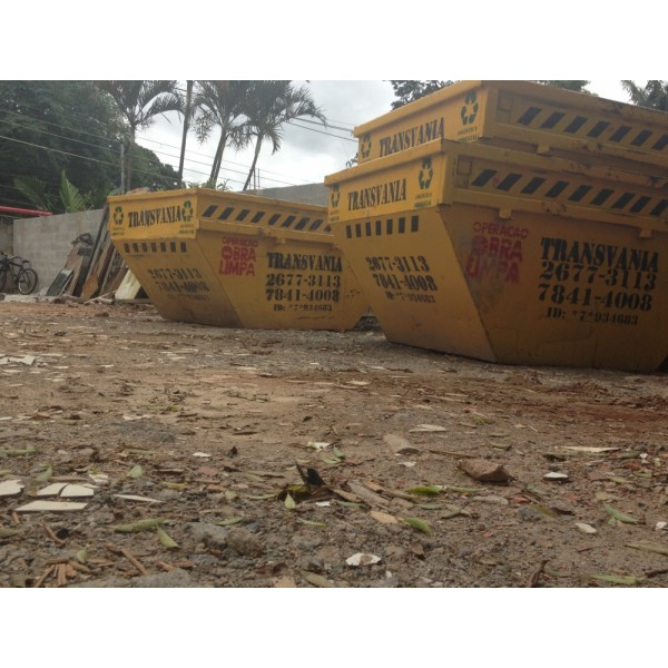 Empresa para Alugar Caçamba para Entulho para Obra na Vila Cecília Maria - Caçamba de Entulho em São Bernardo