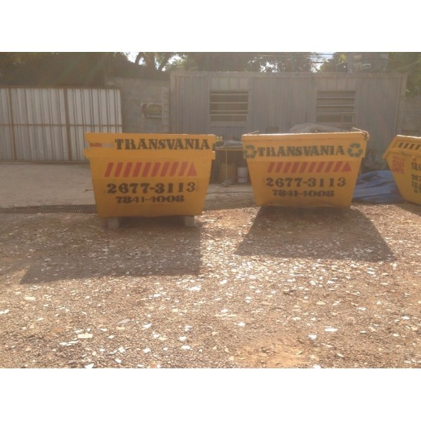 Empresa Que Aluga Caçambas de Lixo para Obra no Bairro Silveira - Caçamba de Lixo na Paulicéia