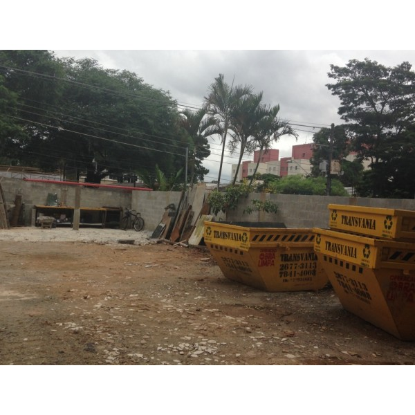 Empresas de Locação para Caçambas na Vila Tibiriçá - Caçamba para Locação Preço
