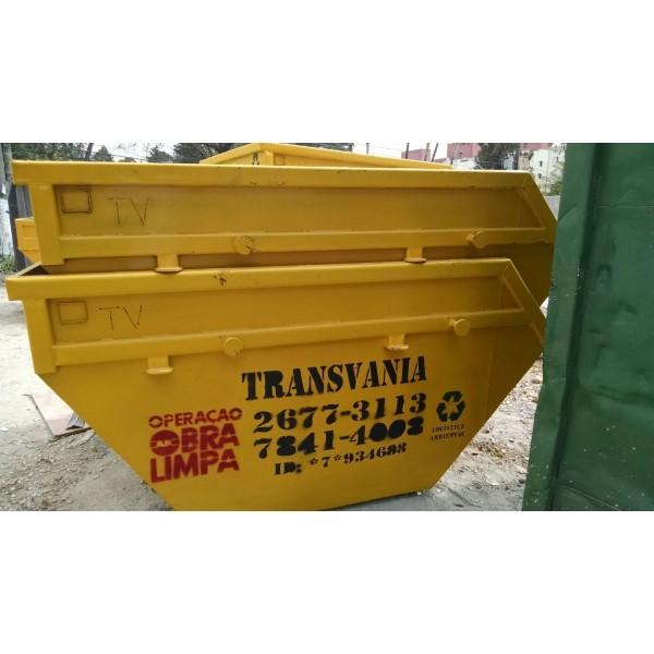 Locação de Caçamba para Lixo para Entulhos Quanto Custa no Bairro Campestre - Empresa de Caçambas de Lixos