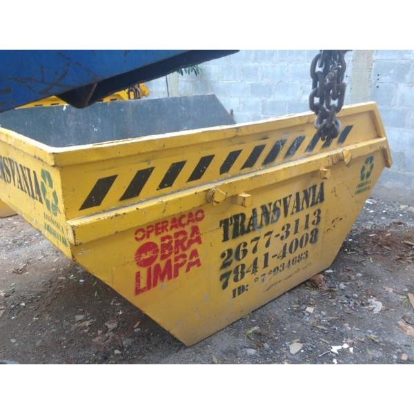 Onde Contratar Empresa Que Faça Locação de Caçamba de Lixo no Jardim Ciprestes - Caçamba para Lixo