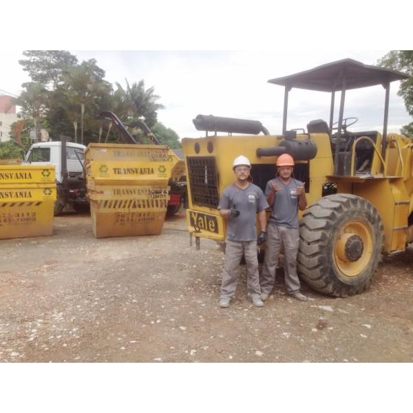 Onde Encontrar Empresa para Locação de Caçambas de Lixo para Obra na Vila São Pedro - Caçamba para Lixo Preço