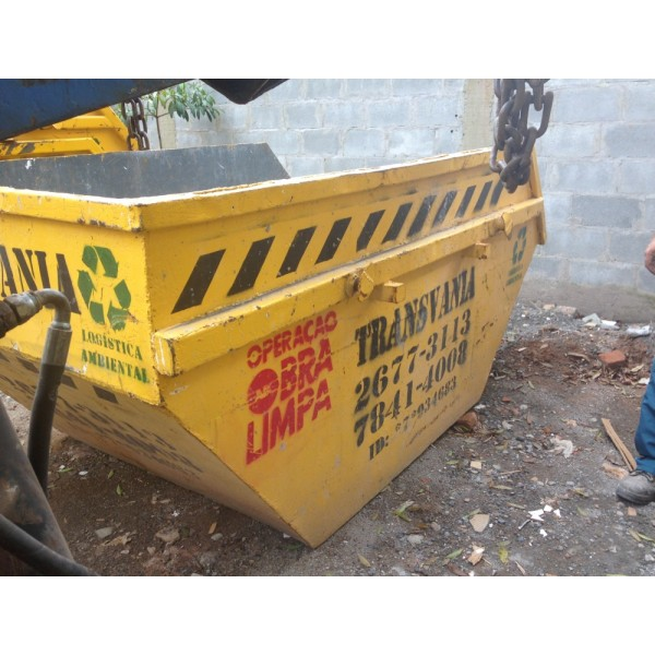 Onde Encontro e Qual o Preço para Locar uma Caçamba de Lixo no Alto Santo André - Preço de Caçamba de Lixo