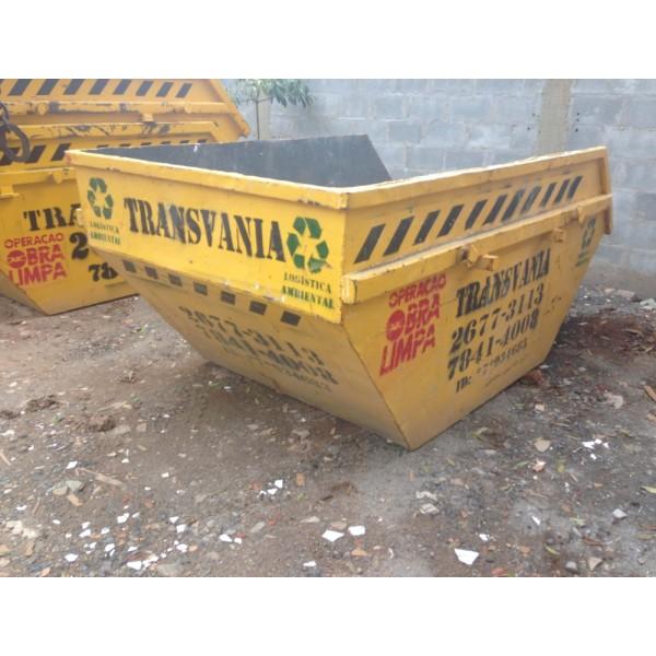 Qual o Preço para Locar Caçamba de Lixo no Santa Teresinha - Alugar Caçamba de Lixo