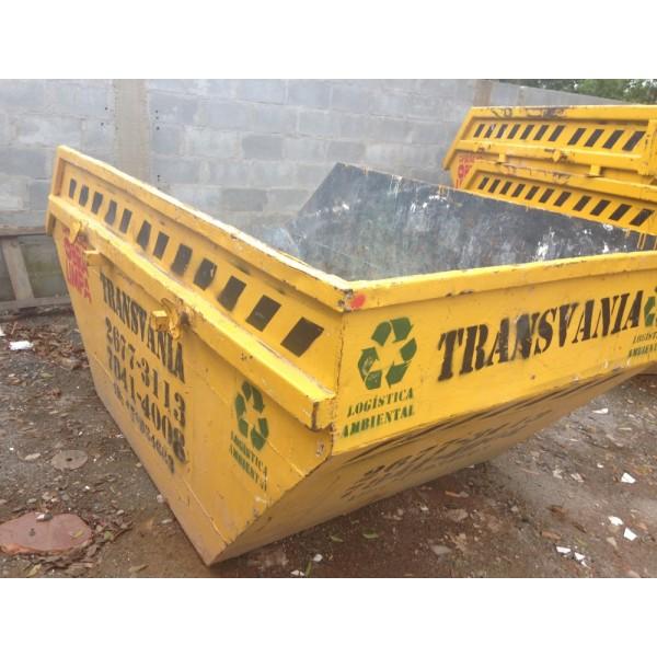 Qual o Valor de Locação de Caçamba para Lixo no Bairro Paraíso - Alugar Caçamba Lixo