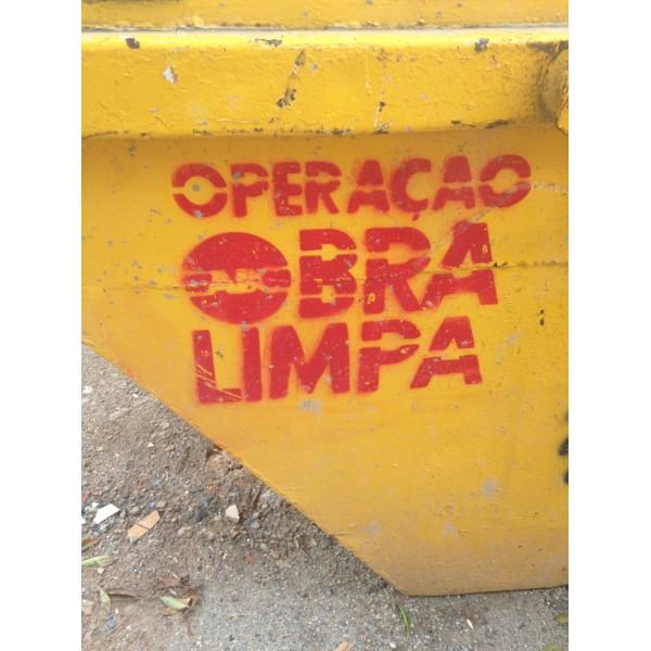 Serviço de Aluguel de Caçamba na Vila Cecília Maria - Caçamba de Entulho Preço Aluguel SP