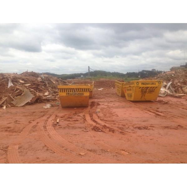 Serviço de Caçamba para Locação na Vila Camilópolis - Empresa para Locação de Caçamba