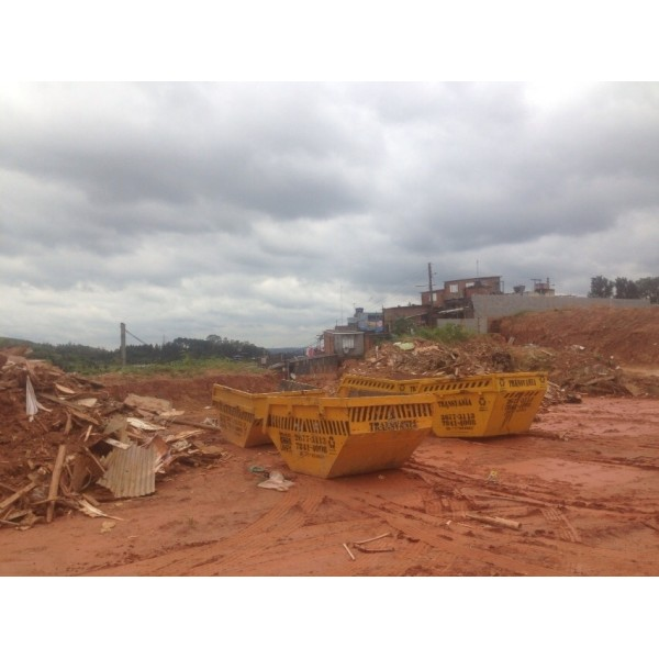 Serviço de Caçamba para Locação para Obras e Construções na Santa Cruz - Locação Caçambas para Obras