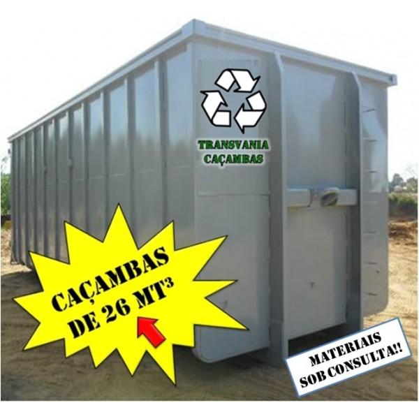 Site para Locação de Caçamba para Lixo Pós Obra na Vila São Pedro - Locação de Caçamba Preço