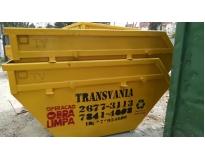 caçamba para retirar lixo na Vila Tibiriçá