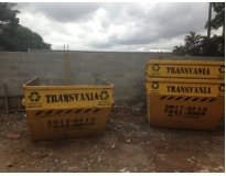 caçambas para coleta de lixo na Vila Cecília Maria