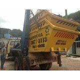 Caçambas para remoção de lixo de obra no Jardim Telles de Menezes