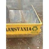 Caçambas para remoção de terra na Vila Clarice