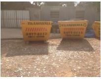 caçambas para retirar lixo na Vila Luzita