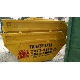 Contratar empresa para locação de caçambas de lixo para obra no Centro