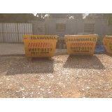Empresa que aluga caçambas de lixo para obra no Bairro Silveira