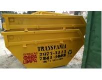 quanto custa caçamba para coleta de lixo na Vila Linda