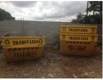 remover lixo com caçambas na Vila Suíça