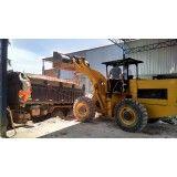 Retirada de terra de obras pequenas na Vila Bastos