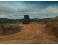retirada de terra de terrenos na Anchieta