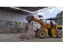 retirada de terra de terrenos na Vila Aquilino