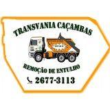 Serviços de caçambas para entulho na Vila Sacadura Cabral