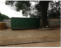 serviços de remoção de lixo com caçamba na Bairro Jardim