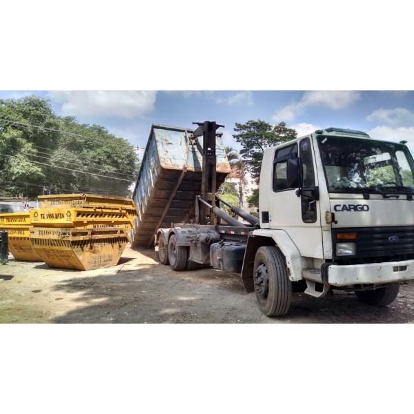 Valor de Serviço de Locação de Caçamba de Lixo na Vila Lutécia - Caçamba para Remoção de Lixo