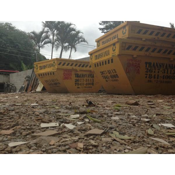 Valores para Locação de Caçambas para Entulho em Santo André - Preço de Caçamba de Entulho